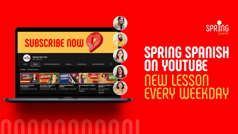 Spring Spanish YouTube Lessons every Weekday