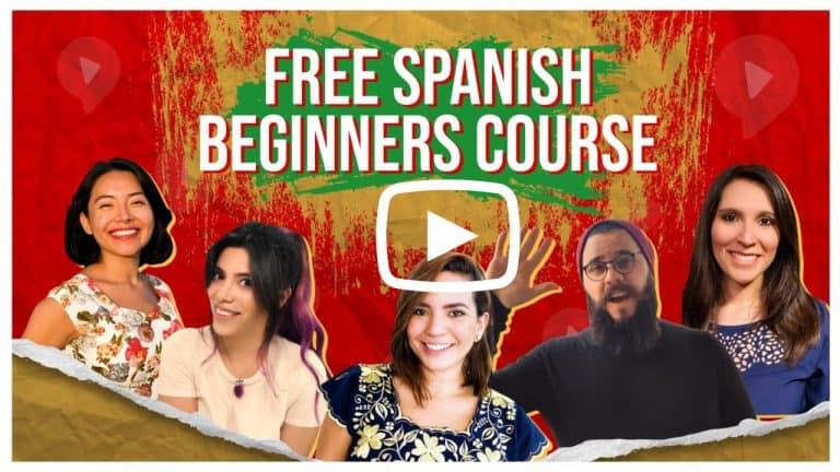 free spanish beginner course