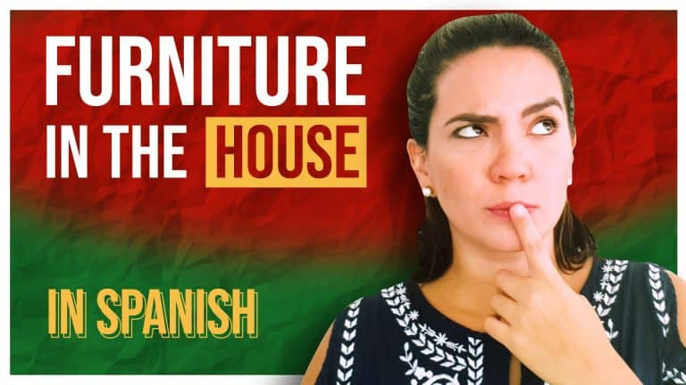 ALL the Spanish phrases you need to talk about FURNITURE in your HOUSE!