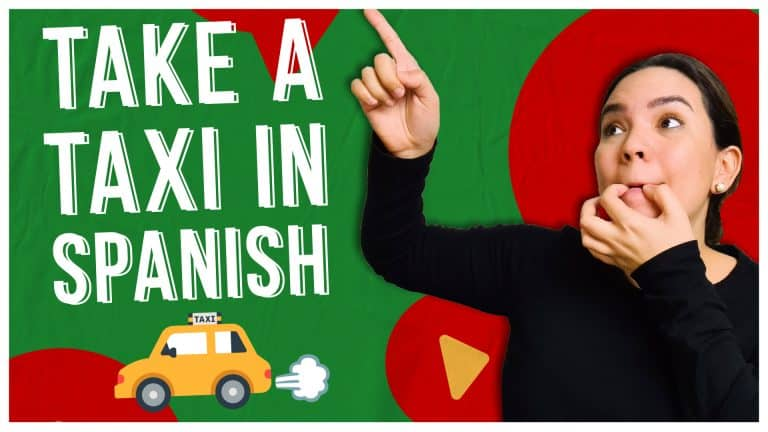 TAKING A TAXI IN SPANISH: All the Chunks You Need! 🚕