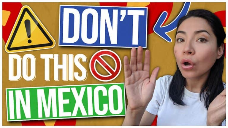 Don't do this when coming to Mexico