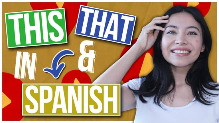 THIS & THAT in Spanish: How to use Este, ese, aquel … (Demonstrative Adjectives)